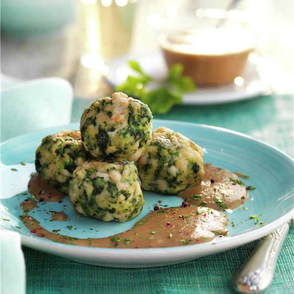 Albóndigas de pavo y verduras con salsa de pera
