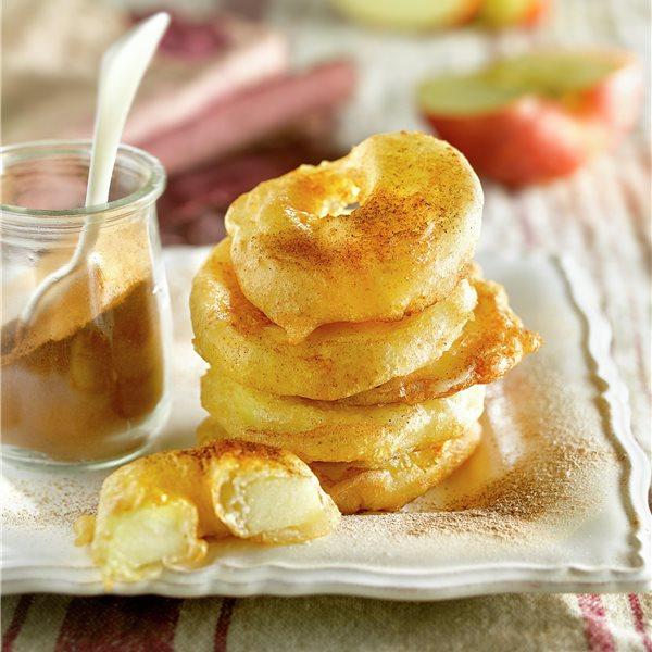 Buñuelos de rodajas de manzana