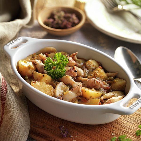 Cazuela de chipirones con patatas