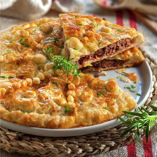 Empanada de hojaldre con carne