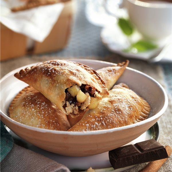 Empanadillas de manzana con chocolate