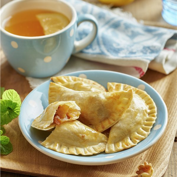 Empanadillas de manzana, nueces y canela
