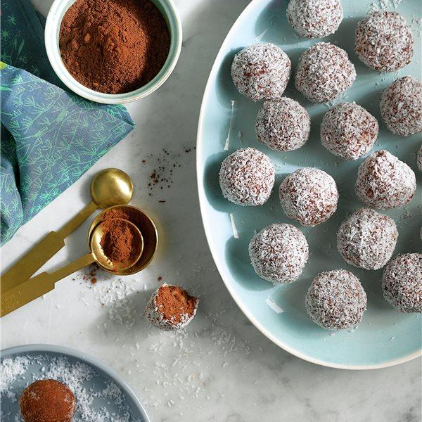 Energy balls de coco y cacao