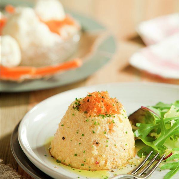 Flanecitos de verduras con ensalada