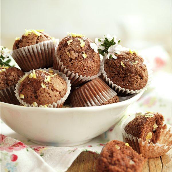 Minimagdalenas de chocolate y limón