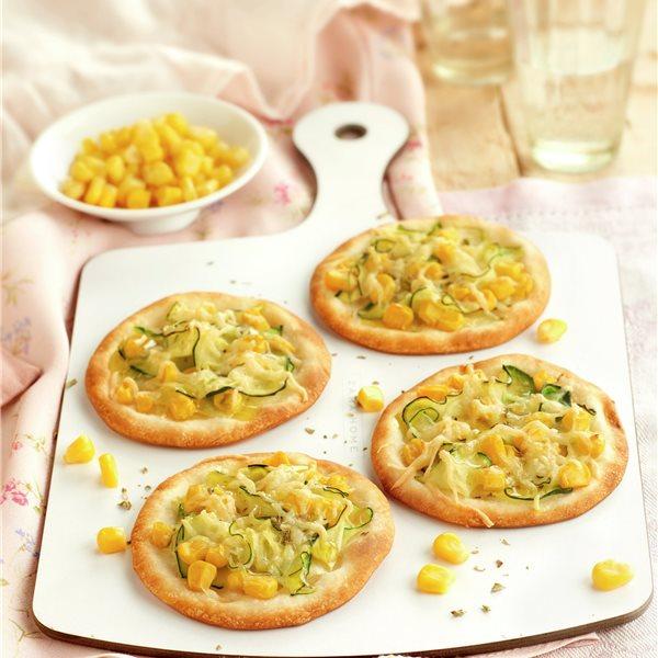 Minipizzas de calabacín y queso