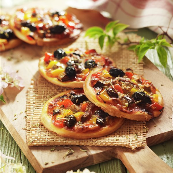 Minipizzas de verdura