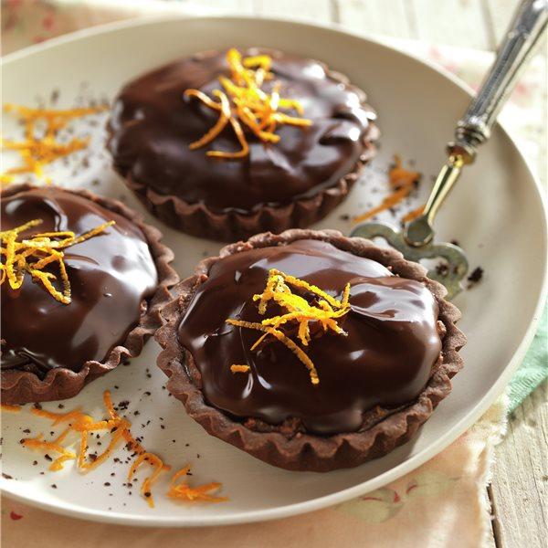 Minitartaletas con mousse de chocolate