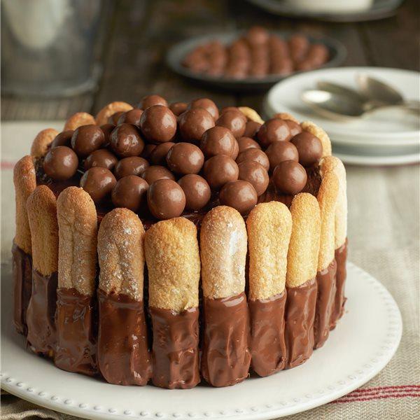 Mousse de chocolate con bizcochos de soletilla