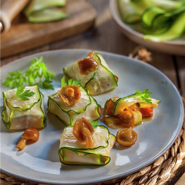 Paquetitos de verduras y setas