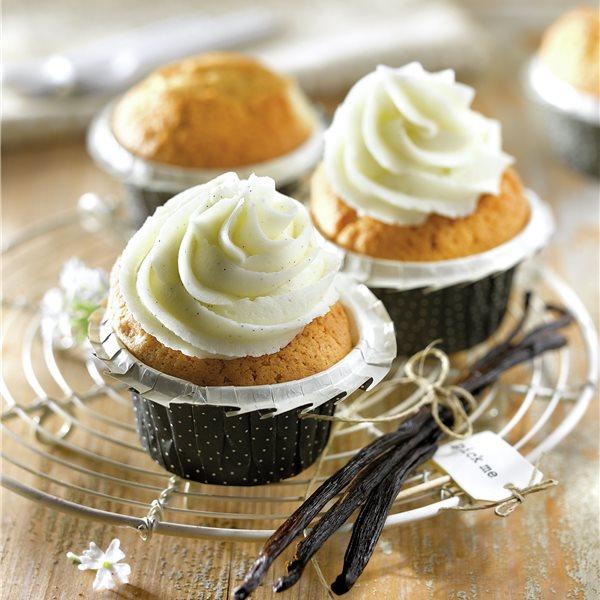 Cupcakes con buttercream de vainilla