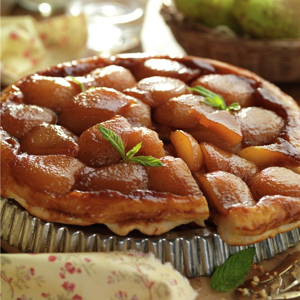 Hojaldre de peras tradicional
