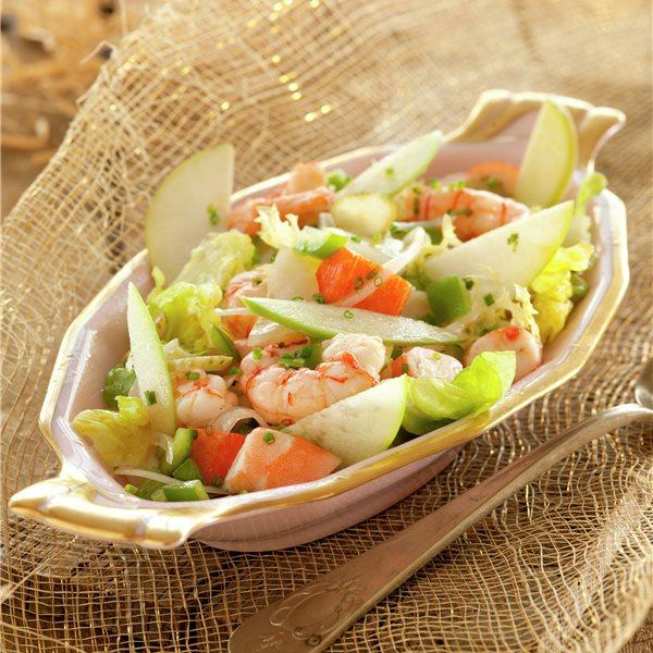 Salpicón de marisco con manzana