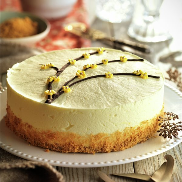 Tarta de mousse de limón y galleta
