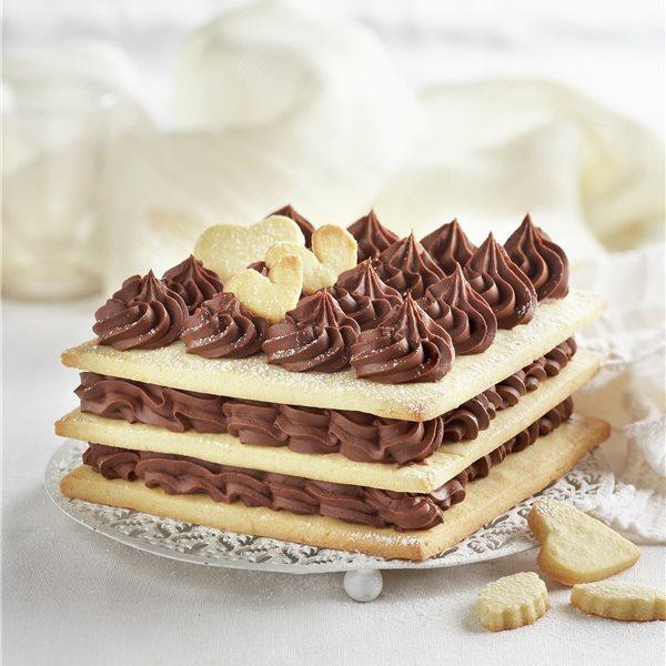 Tarta de galletas caseras con chocolate