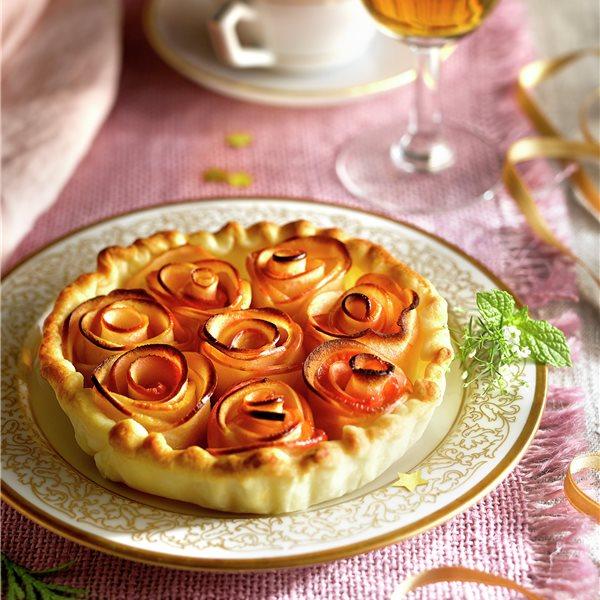 Tartaletas de manzana con natillas