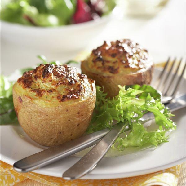 Patatas rellenas con roquefort