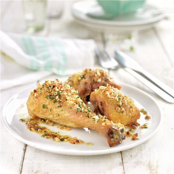 Pollo asado con frutos secos