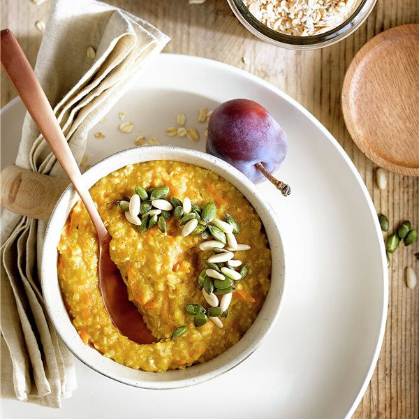 Porridge de avena y boniato