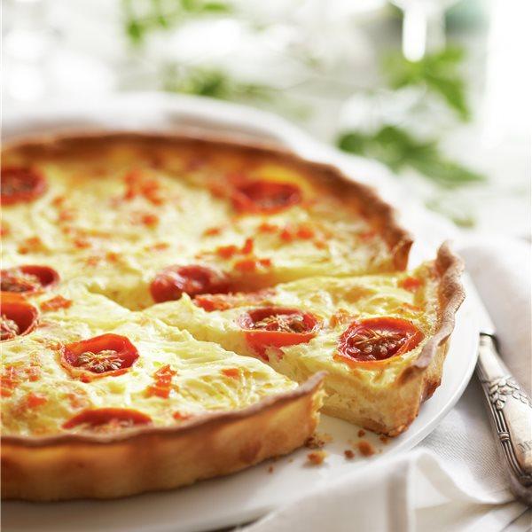 Quiche de verduritas y queso de Burgos
