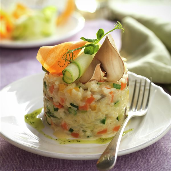 Risotto de verduras y setas