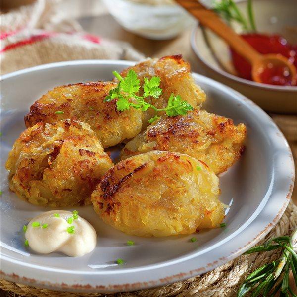 Rosti de patatas con alioli