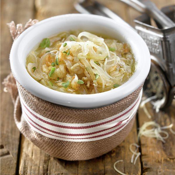 Sopa de cebolla con avena