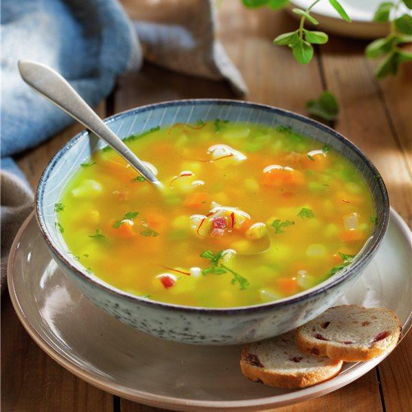 Sopa de coliflor  y calabaza