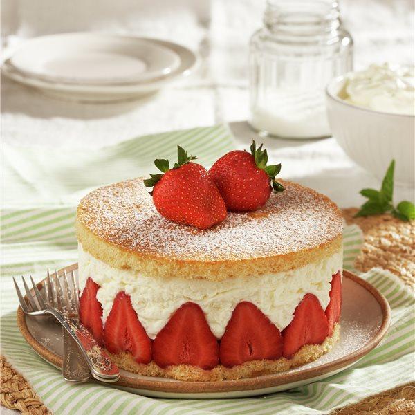 Tarta helada de mascarpone y fresas