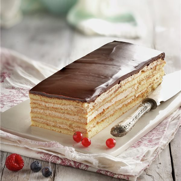 Tarta ópera con ganache de chocolate