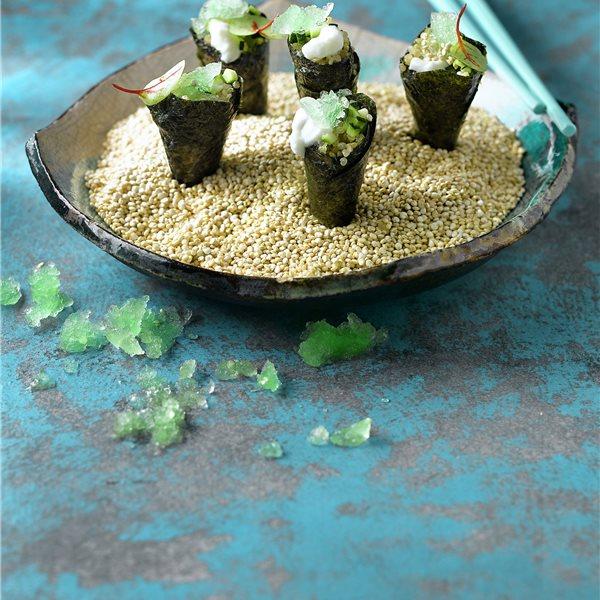 Temaki de quinoa