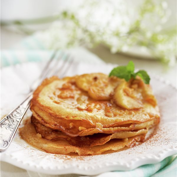 Tortitas de manzana con frutos secos