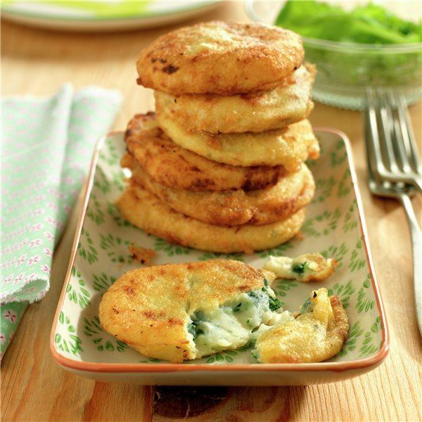 Tortitas de patata y espinacas