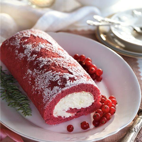 Tronco de Navidad red velvet