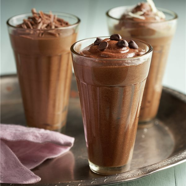 Mousse de chocolate con licor