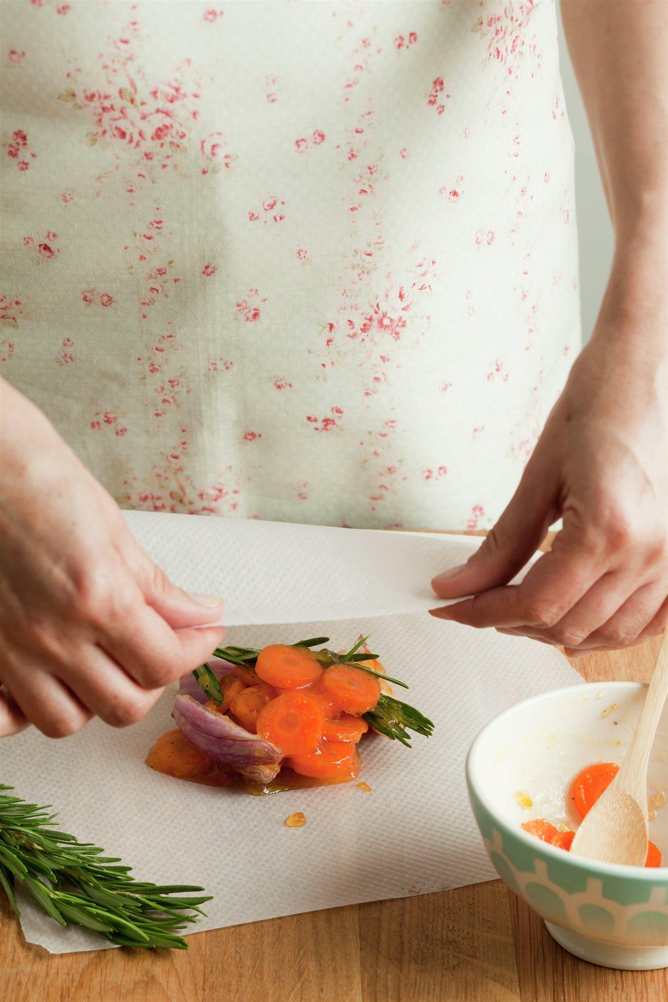 3. Hornea las verduras