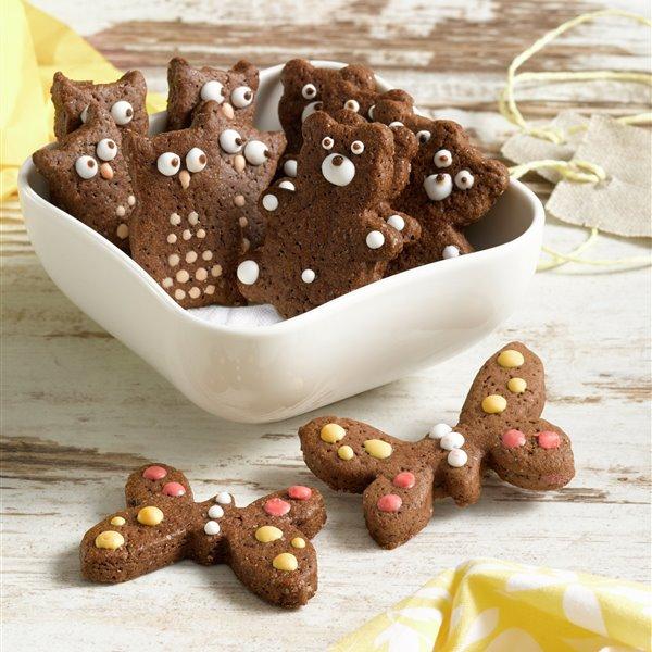 Galletas infantiles de chocolate negro