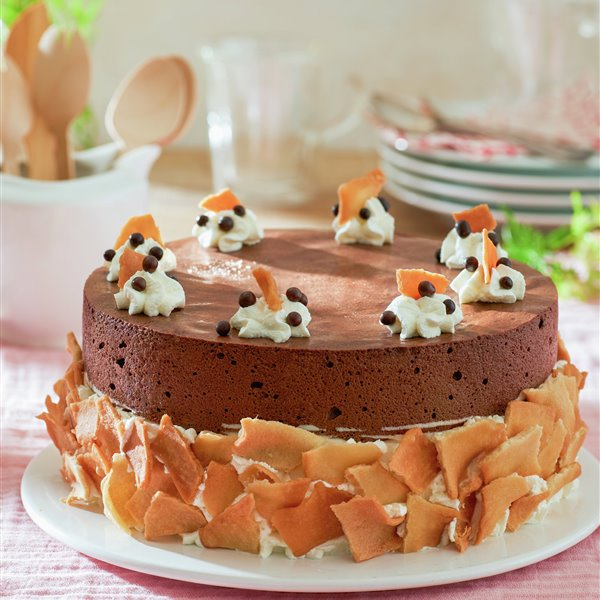 Cheesecake con chocolate