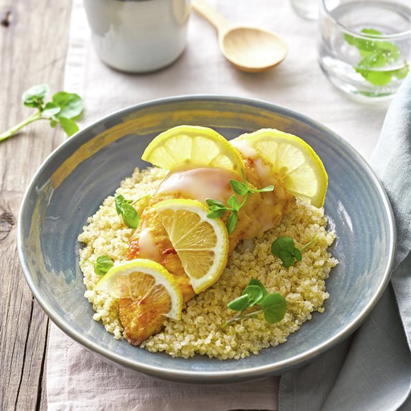 Pollo al limón con quinoa