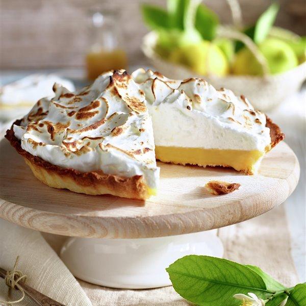 Tarta de limón y merengue sin azúcar