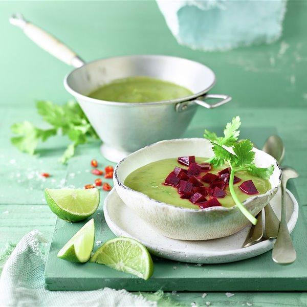 Sopa verde de verano