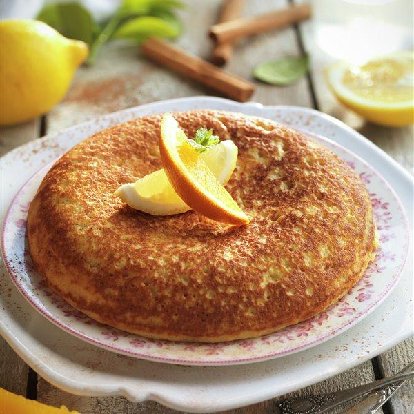 Tortilla de pan con aroma de cítricos