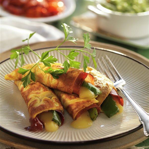 Tortillas rellenas con guacamole