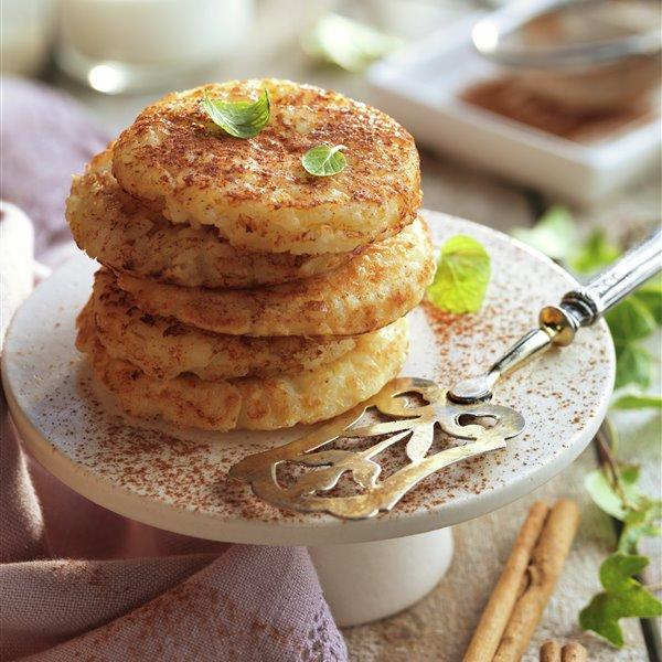 Tortillitas de arroz con leche y canela