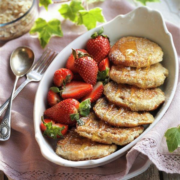 Tortitas de claras con fresas