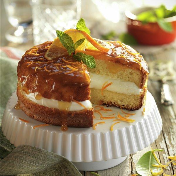 Bizcocho de nata y mandarina