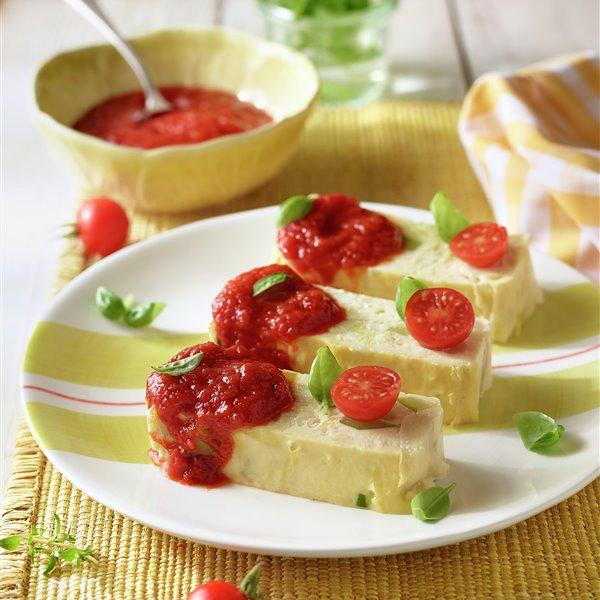 Pastel de verduras y mermelada