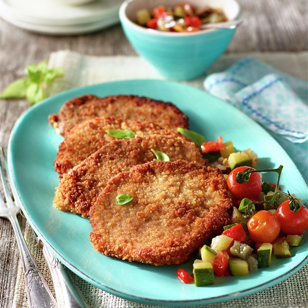 Escalopes de ternera a la milanesa