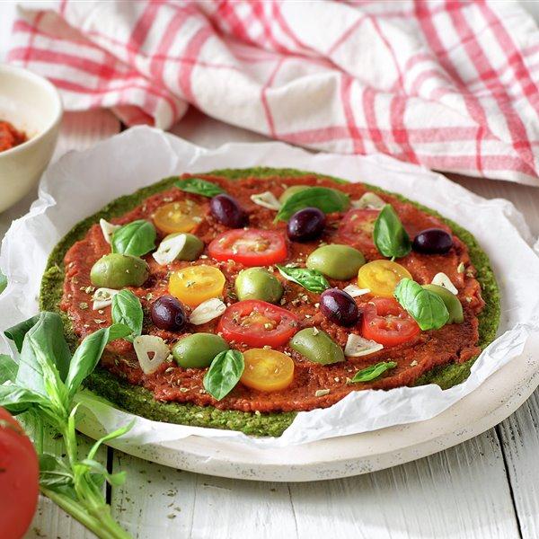 Raw pizza marinara