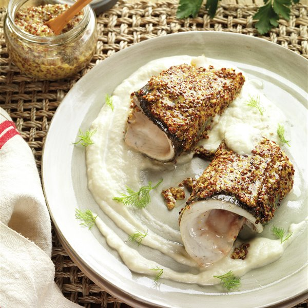 Filetes de dorada a la mostaza